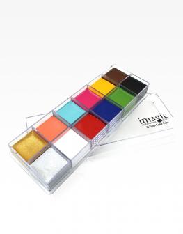 IMAGIC 12 Colours Flash Tattoo Face Body Paint
